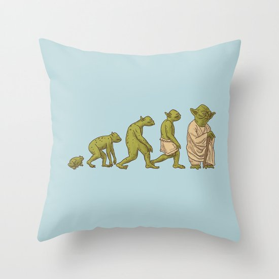 Yodalution  Throw Pillow