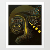 Dark Jaguar Art Print