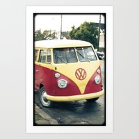 vw Art Prints featuring VW  by Stefanie Renee