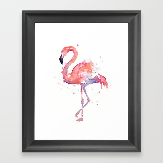 Flamingo Framed Art Print By Olechka Society6