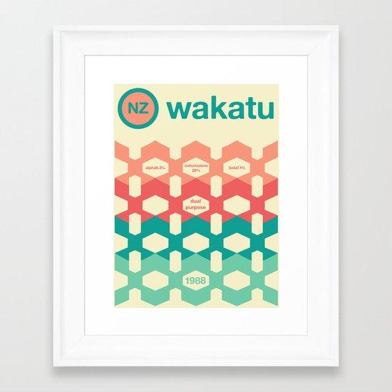wakatu single hop Framed Art Print