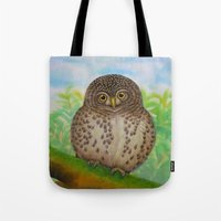 Collared Owlet Tote Bag