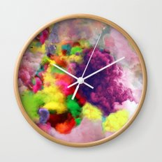 Colorful Smoke And Mirrors Wall Clock