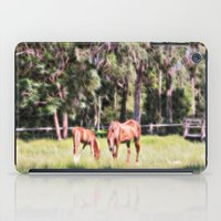 Horse And Foal Feeding I… iPad Case