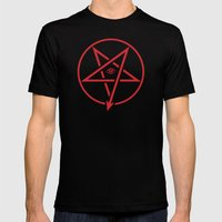 Adversary Pentagram Mens Fitted Tee Black SMALL