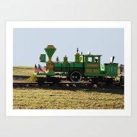 The Little Train Art Print