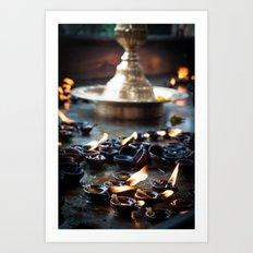 Divine Diyas Art Print