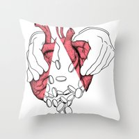 money or love Throw Pillow