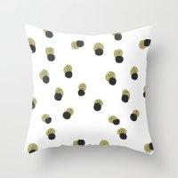 blots abstract minimal pattern Throw Pillow