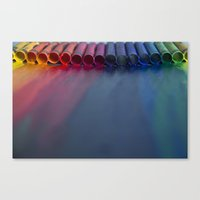 Crayons: Just Melted Canvas Print