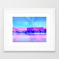 Sweden In A Glitch Framed Art Print
