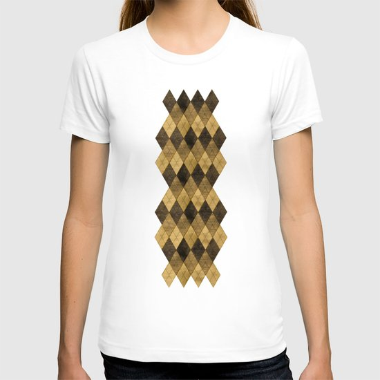 Wooden big diamond T-shirt