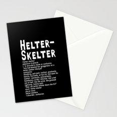 Helter Skelter (white on black) Stationery Cards