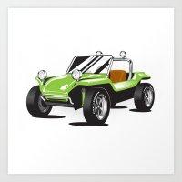 VW Dune Buggy Art Print