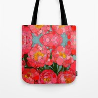 Pink Tulips On Parade! Tote Bag