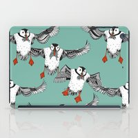 Atlantic Puffins mint iPad Case