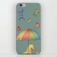 It's raining cats and dogs iPhone & iPod Skin