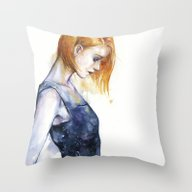 Throw Pillow featuring Heliotropic Girl  by Agnes-cecile