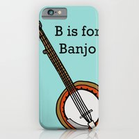B is for Banjo, typed. iPhone 6 Slim Case