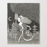 Tenzaru Girl Canvas Print