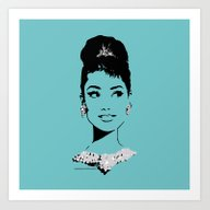 Audrey In Tiffany Art Print