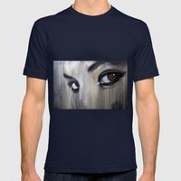 Awakened Mens Fitted Tee Navy SMALL