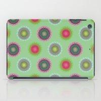 transparent floral pattern 4 iPad Case