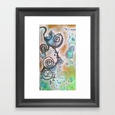 Vintage Swirl Framed Art Print