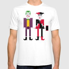 Joker and Harley Quinn SMALL Mens Fitted Tee White