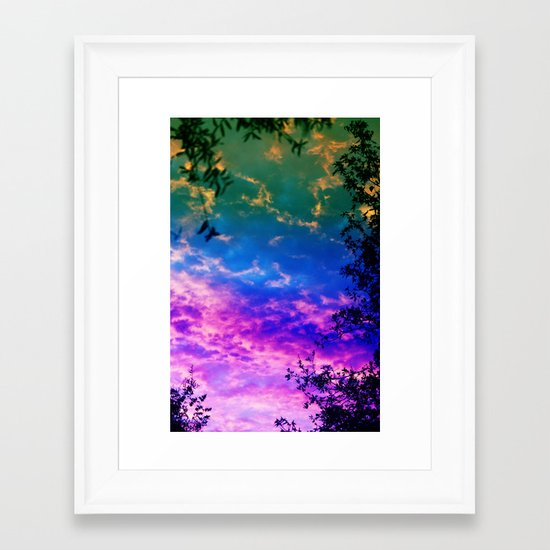 Rainbow Forest Framed Art Print