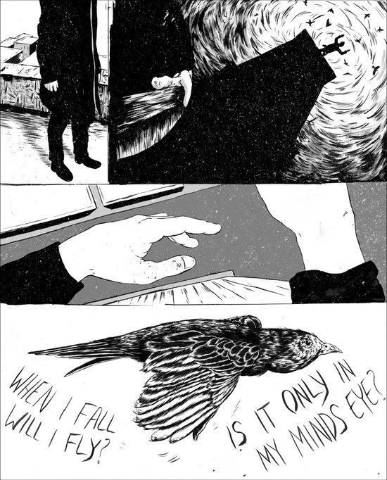 Falling Up Art Print
