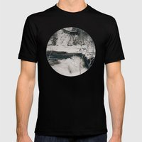 Winter Falls Mens Fitted Tee Black SMALL