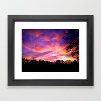 The Soft Edible Sky  Framed Art Print