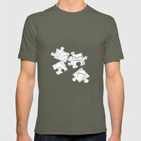 Puzzle Woman Mens Fitted Tee Lieutenant SMALL