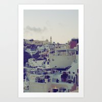 Fira at Dusk IV Art Print