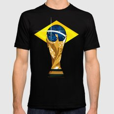 Brazil 2014 Mens Fitted Tee Black SMALL