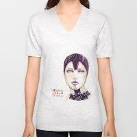Fashion Illustration  Unisex V-Neck