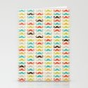 Hipster Mustaches Stationery Cards