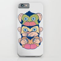 iPhone & iPod Case featuring Hear no evil, Speak no evil, See no evil by Komson