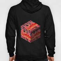 3D pixel city Hoody