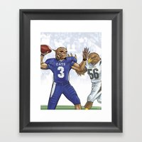 Wildcats Versus Eagles Framed Art Print