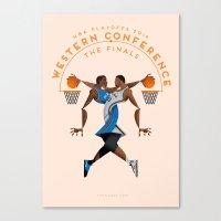 NBA PLAYOFFS 2014 - WEST… Canvas Print