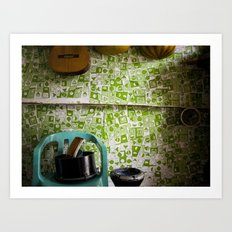 Music Shop, Palestinian camp, Aleppo Art Print