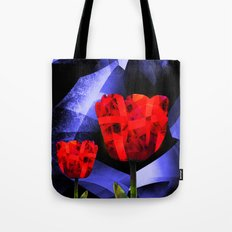 Digital Tulips Tote Bag