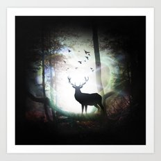out of the darkness  Art Print