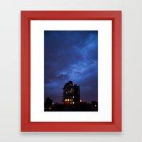 Electric Sky Framed Art Print