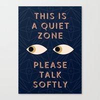 Quiet Zone Canvas Print