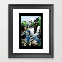 Steph Curry And The Art … Framed Art Print