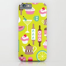 Lime cocktail party and candy kitchen food print Slim Case iPhone 6s