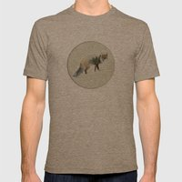 Winter Fox Mens Fitted Tee Tri-Coffee SMALL
